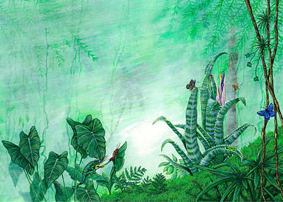 Rainforest Creatures. Art Print