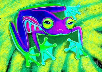 Rain Forest Digital Art - Rainforest Frog by Nick Gustafson