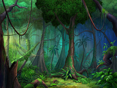 Whimsical Mixed Media - Rainforest by Philip Straub