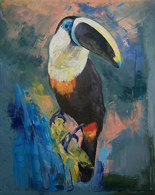 Nature Oil Painting - Rainforest Toucan by Michael Creese