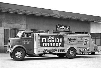 Photograph - Rainier Beer Mission Orange by Vibert Jeffers