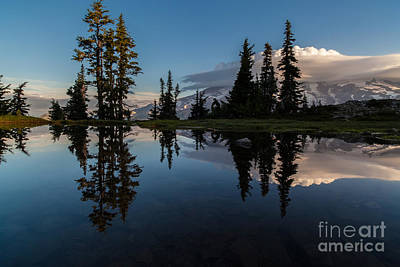 Lenticular Photograph - Rainier First Light by Mike Reid