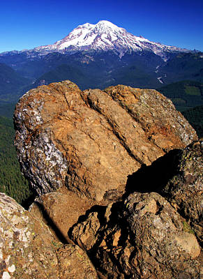 Photograph - Rainier From High Rock Lookout by Daniel Woodrum
