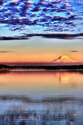 Photograph - Rainier Glory - Tall by Benjamin Yeager