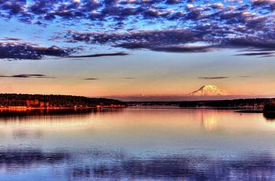 Photograph - Rainier Glory - Wide by Benjamin Yeager