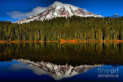 Photograph - Rainier In Reflection Lake by Adam Jewell
