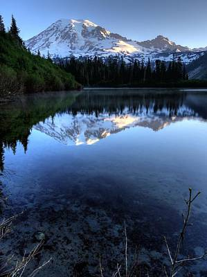 Photograph - Rainier Redefined by Peter Mooyman