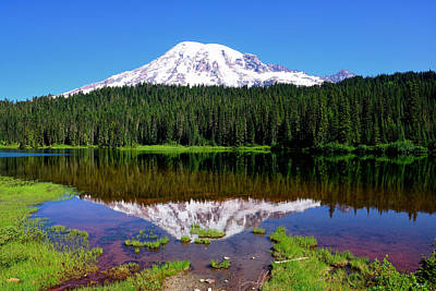 Photograph - Rainier Reflections by Greg Norrell
