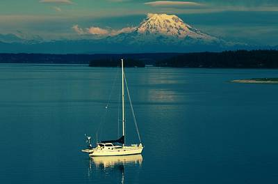 Photograph - Rainier Sailing by Benjamin Yeager