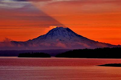 Photograph - Rainier Shadow by Benjamin Yeager