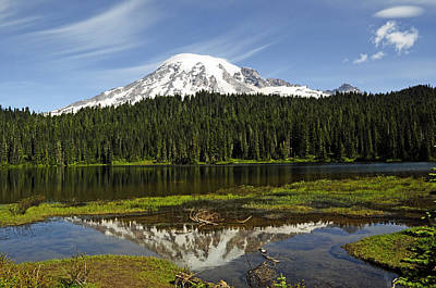 Photograph - Rainier's Reflection by Tikvah's Hope