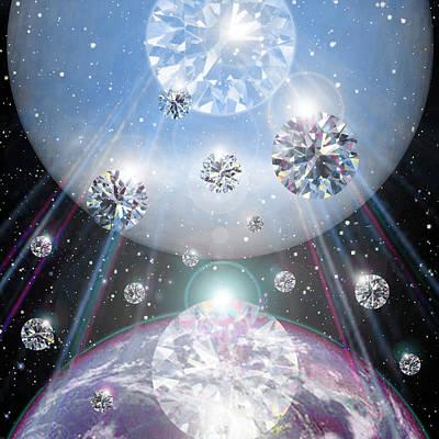 Raining Diamonds Art Print