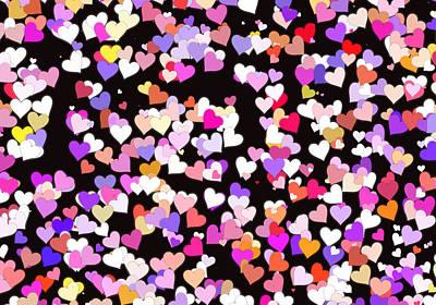 Valentines Day Digital Art - Raining Hearts by Daniel Hagerman