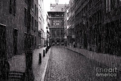 Photograph - Raining In Amsterdam by Eric Wiles