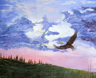 Soaring Painting - Rains Over by Michael Dillon