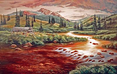 Creek Painting - Rains Over Paradise by Lori Salisbury