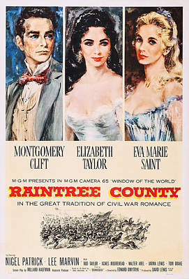 Elizabeth Edwards Photograph - Raintree County, Us Poster, From Left by Everett