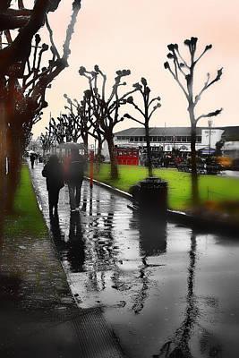 Rainy At The Pier Art Print by Lisa Alex