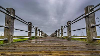Photograph - Rainy Boardwalk by Randy Scherkenbach