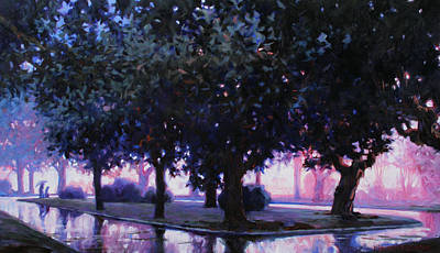 Rainy Boulevard Original by Kevin Lawrence Leveque
