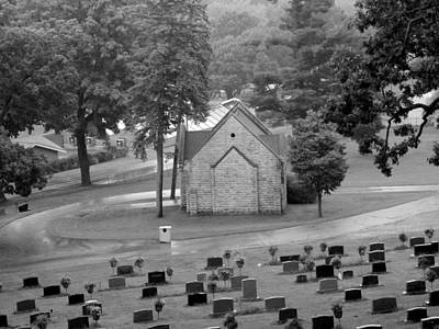 Photograph - Reduced Rainy Cemetery Chapel by Wild Thing