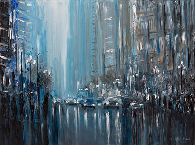 Painting - Rainy City. London by Salavat Fidai
