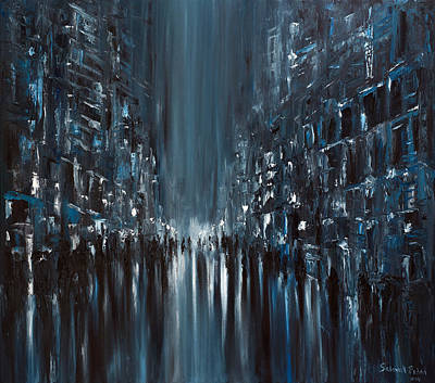 Painting - Rainy City. Monday by Salavat Fidai