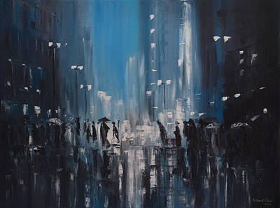 Painting - Rainy City by Salavat Fidai