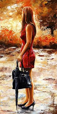 Umbrella Painting - Rainy Day - After The Rain by Emerico Imre Toth