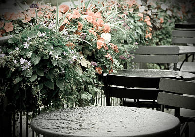 Art Print featuring the photograph Rainy Day At The Cafe by Erin Kohlenberg