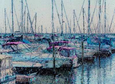 Pour Digital Art - Rainy Day At The Lakefront by Jack Zulli