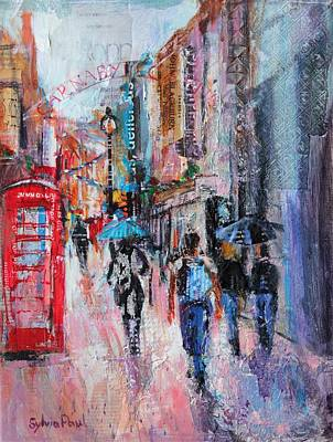 Rainy Day  Carnaby Street Art Print by Sylvia Paul