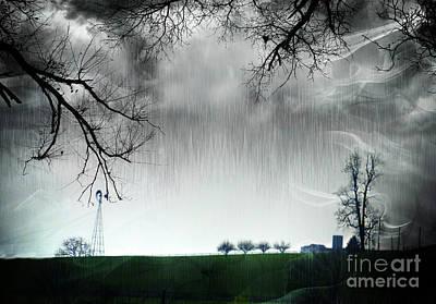Rainy Day Farm Ver-5 Art Print