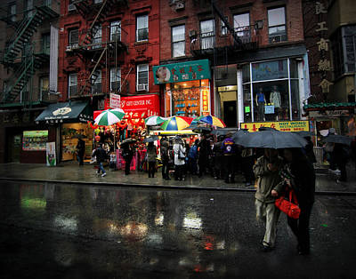 Rainy Day Photograph - Rainy Day In  Chinatown by Linda Unger