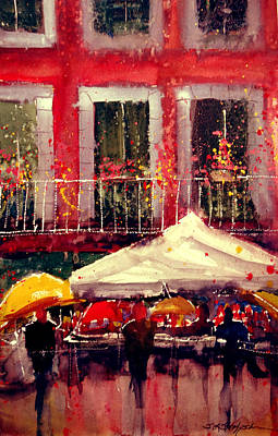 Painting - Rainy Day In Fivizzano by Sandra Strohschein