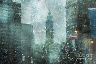 Rainy Day In Philadelphia  Print by Diane Diederich