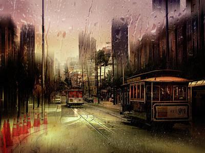 Rainy Day In San Francisco Art Print