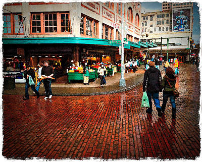 Photograph - Rainy Day In Seattle by Randy Green