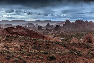Valley Of Fire Wall Art - Photograph - Rainy Day In The Desert by Rick Berk