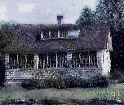 Rainy Day Long Ago House Art Print by RC deWinter