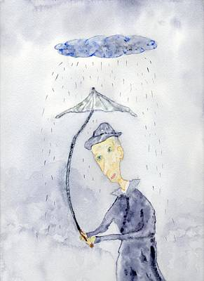 Rainy Day Man Art Print