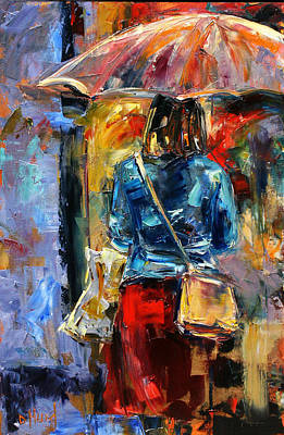 Wall Art - Painting - Rainy Day People #2 by Debra Hurd