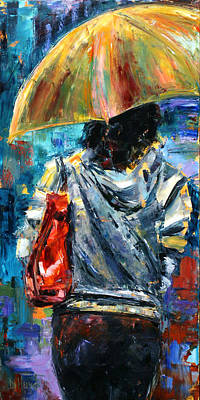 Wall Art - Painting - Rainy Day People #3 by Debra Hurd