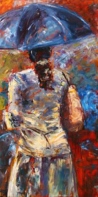 Painting - Rainy Day People #4 by Debra Hurd