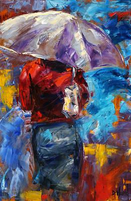 Wall Art - Painting - Rainy Day People by Debra Hurd