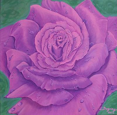 Painting - Rainy Day Rose by Sharon Duguay