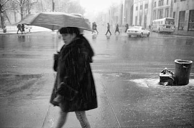 Photograph - Rainy Day Woman 1992 by Dave Beckerman