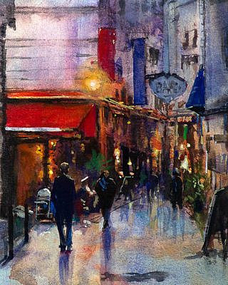 Rainy Evening Art Print by Carlos Herrera