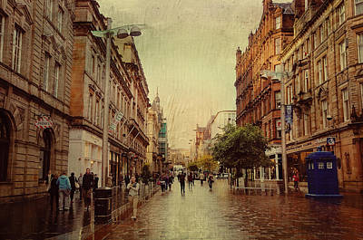 Photograph - Rainy Glasgow. Scotland by Jenny Rainbow