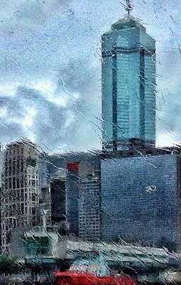 Digital Art - Rainy Hong Kong by Yury Malkov